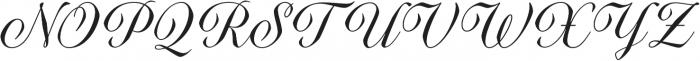 Quarzo Regular otf (400) Font UPPERCASE