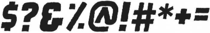 Quashar Rough otf (400) Font OTHER CHARS