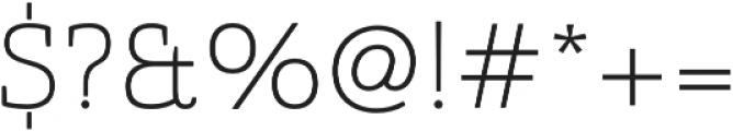 Quatie otf (100) Font OTHER CHARS