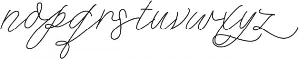 Que Sera - Kestrel Montes otf (400) Font LOWERCASE