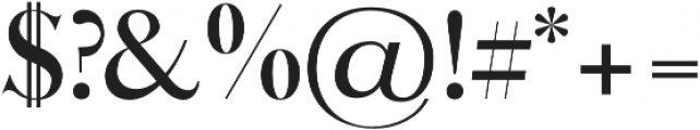 Queen bold otf (700) Font OTHER CHARS