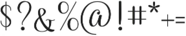 Queensha otf (400) Font OTHER CHARS