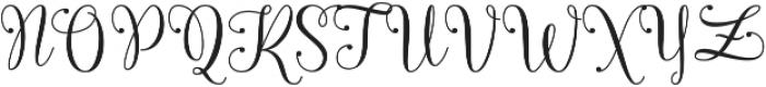 Queensha otf (400) Font UPPERCASE