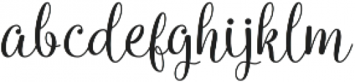 Queensha otf (400) Font LOWERCASE