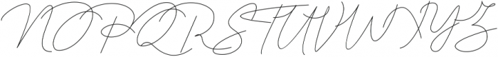 Queenstown Signature alt otf (400) Font UPPERCASE