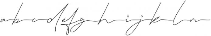 Queenstown Signature alt otf (400) Font LOWERCASE