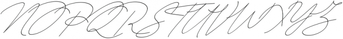 Queenstown Signature alt slant otf (400) Font UPPERCASE