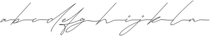 Queenstown Signature alt slant otf (400) Font LOWERCASE