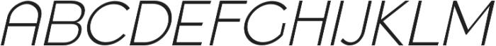 Quenbach Light Italic otf (300) Font UPPERCASE