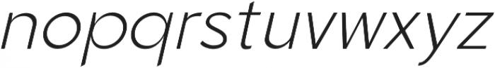 Quenbach Light Italic otf (300) Font LOWERCASE