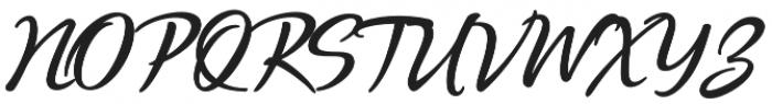 Quente Script otf (700) Font UPPERCASE