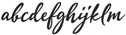 Quente Script otf (700) Font LOWERCASE