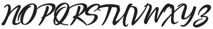Quente Script otf (900) Font UPPERCASE
