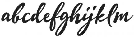 Quente Script otf (900) Font LOWERCASE