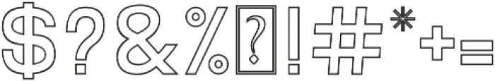 Quest for Design Print Outline otf (400) Font OTHER CHARS