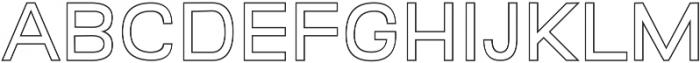 Quest for Design Print Outline otf (400) Font UPPERCASE