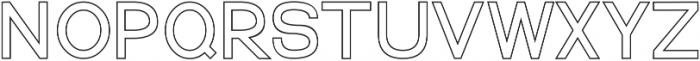 Quest for Design Print Outline otf (400) Font LOWERCASE