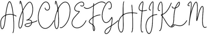 Questa Whitte Regular otf (400) Font UPPERCASE