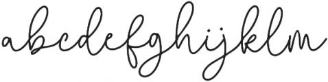 Questa Whitte Regular otf (400) Font LOWERCASE
