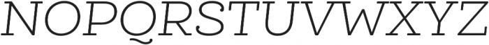 Queulat Alt Soft Light It otf (300) Font UPPERCASE