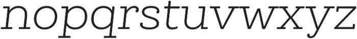 Queulat Alt Soft Light It otf (300) Font LOWERCASE