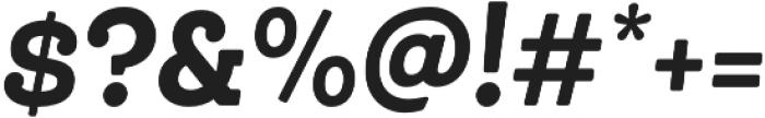 Queulat Cnd Alt Soft Black It otf (900) Font OTHER CHARS