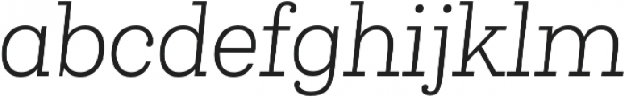 Queulat Cnd Light It otf (300) Font LOWERCASE