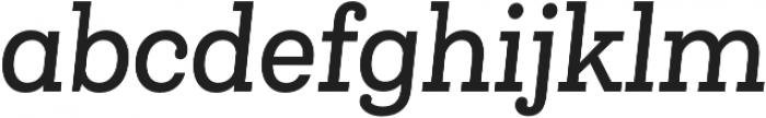 Queulat Cnd Medium It otf (500) Font LOWERCASE