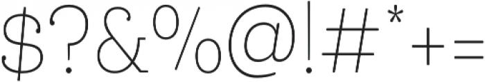 Queulat Cnd Soft Thin otf (100) Font OTHER CHARS