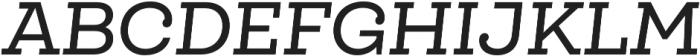Queulat Medium Italic otf (500) Font UPPERCASE