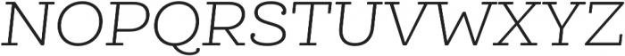 Queulat Soft Light It otf (300) Font UPPERCASE
