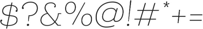 Queulat Soft Thin It otf (100) Font OTHER CHARS