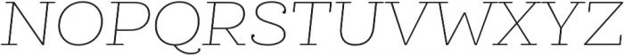 Queulat Soft Thin It otf (100) Font UPPERCASE