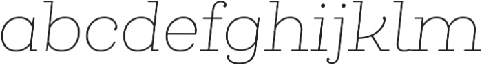 Queulat Soft Thin It otf (100) Font LOWERCASE