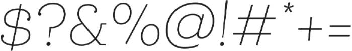 Queulat Thin Italic otf (100) Font OTHER CHARS