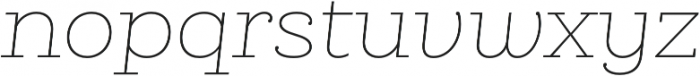 Queulat Thin Italic otf (100) Font LOWERCASE