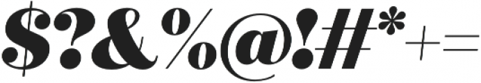 Quiche Display Black Italic otf (900) Font OTHER CHARS