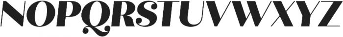 Quiche Display Black Italic otf (900) Font UPPERCASE