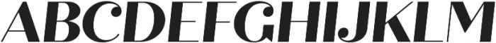 Quiche Display ExtraBold Italic otf (700) Font UPPERCASE