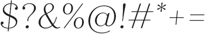 Quiche Display Thin Italic otf (100) Font OTHER CHARS