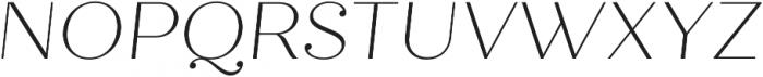 Quiche Display Thin Italic otf (100) Font UPPERCASE