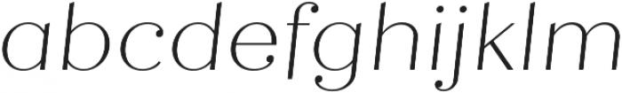 Quiche Display Thin Italic otf (100) Font LOWERCASE