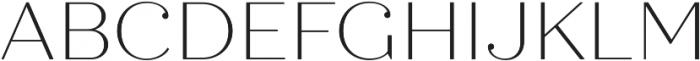 Quiche Display Thin otf (100) Font UPPERCASE