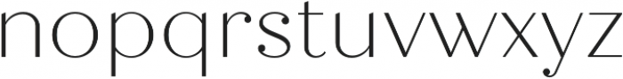 Quiche Display Thin otf (100) Font LOWERCASE