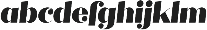Quiche Fine Black Italic otf (900) Font LOWERCASE