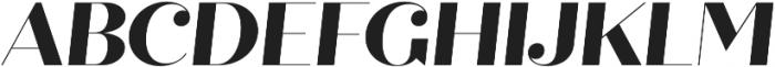 Quiche Fine ExtraBold Italic otf (700) Font UPPERCASE