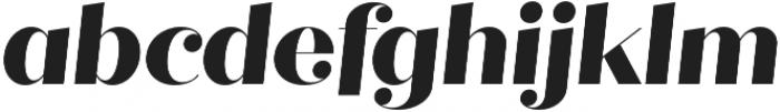 Quiche Fine ExtraBold Italic otf (700) Font LOWERCASE