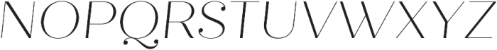 Quiche Fine Thin Italic otf (100) Font UPPERCASE