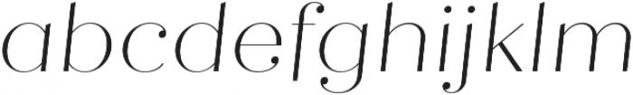 Quiche Fine Thin Italic otf (100) Font LOWERCASE