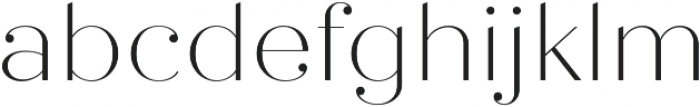 Quiche Fine Thin otf (100) Font LOWERCASE